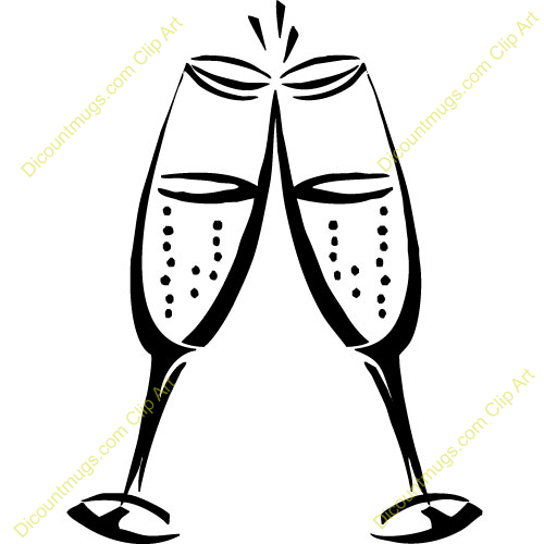 Champagne clipart toasting glass, Champagne toasting glass ...