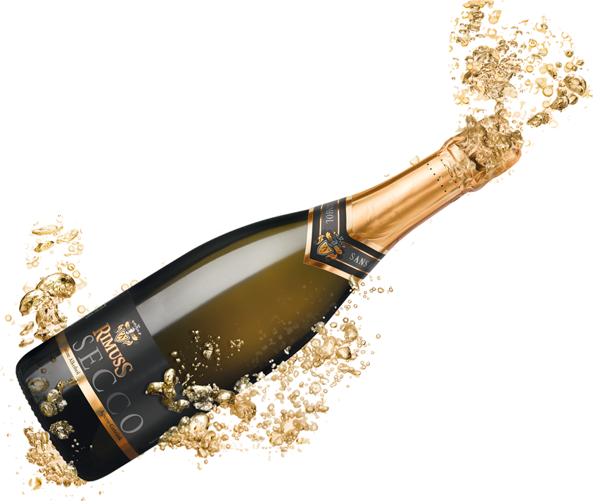 Transparent background mart. Champagne bottle popping png