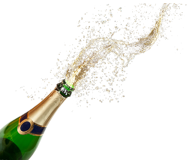Champaign clipart transparent background. Champagne popping png