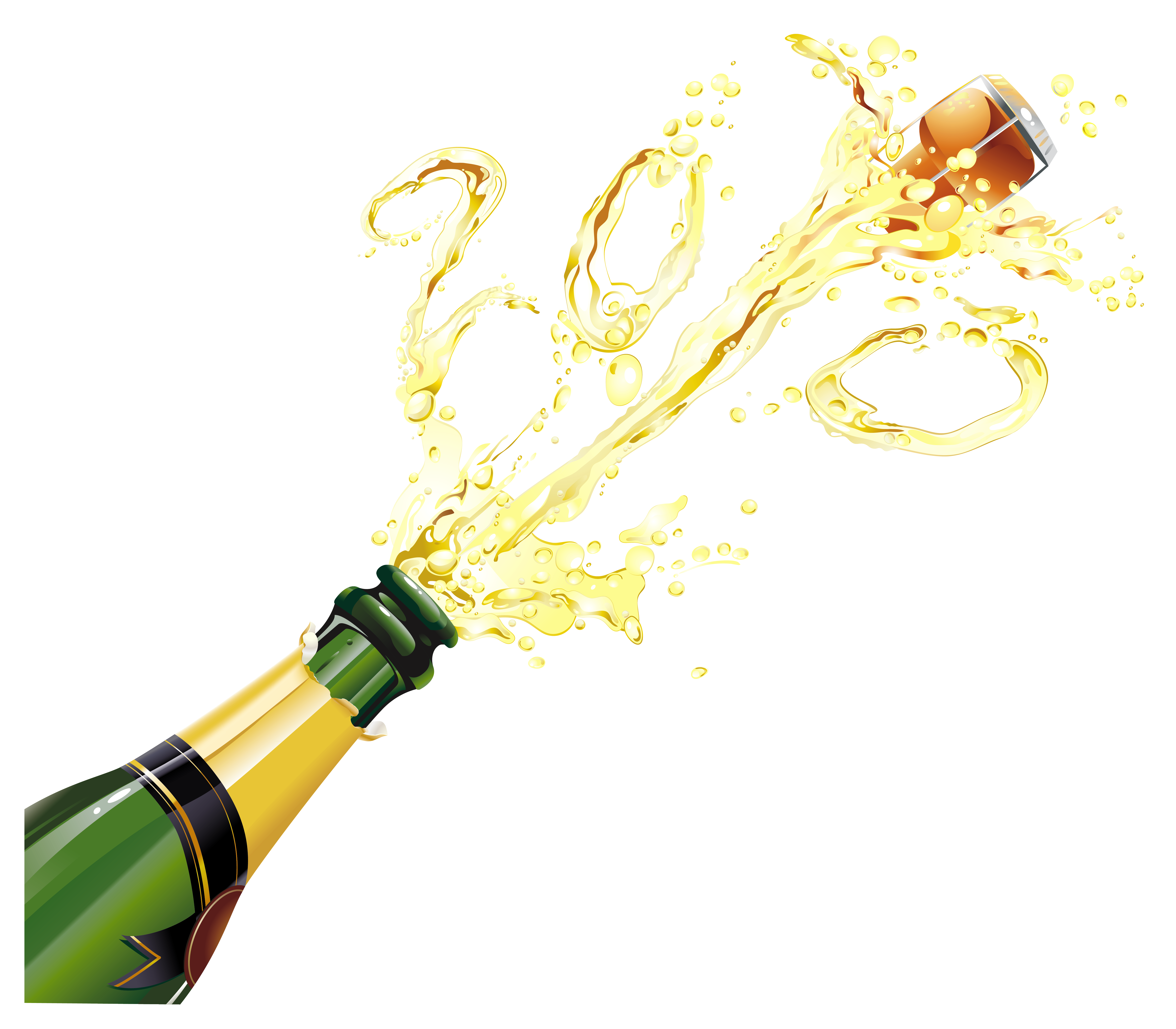 New year champagne png. Champaign clipart transparent background