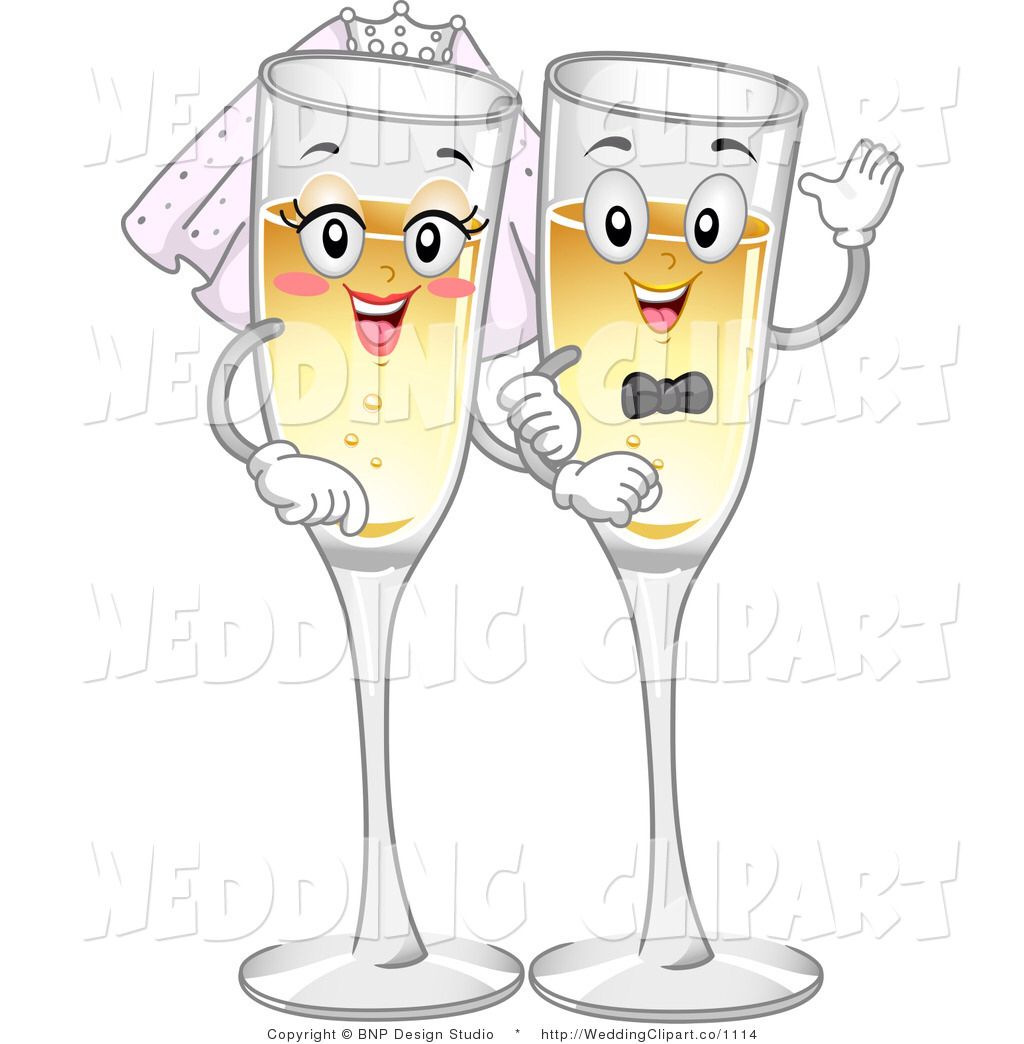 Image from http weddingclipart. Champaign clipart cartoon