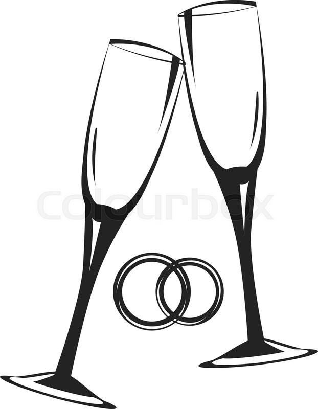 Download champagne glasses glass. Champaign clipart wedding