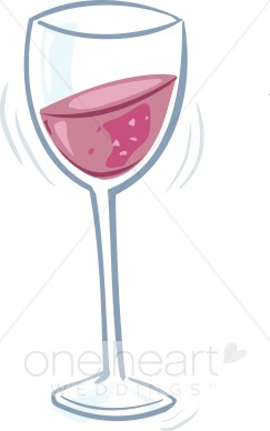 Wedding drinks. Champaign clipart wine glass