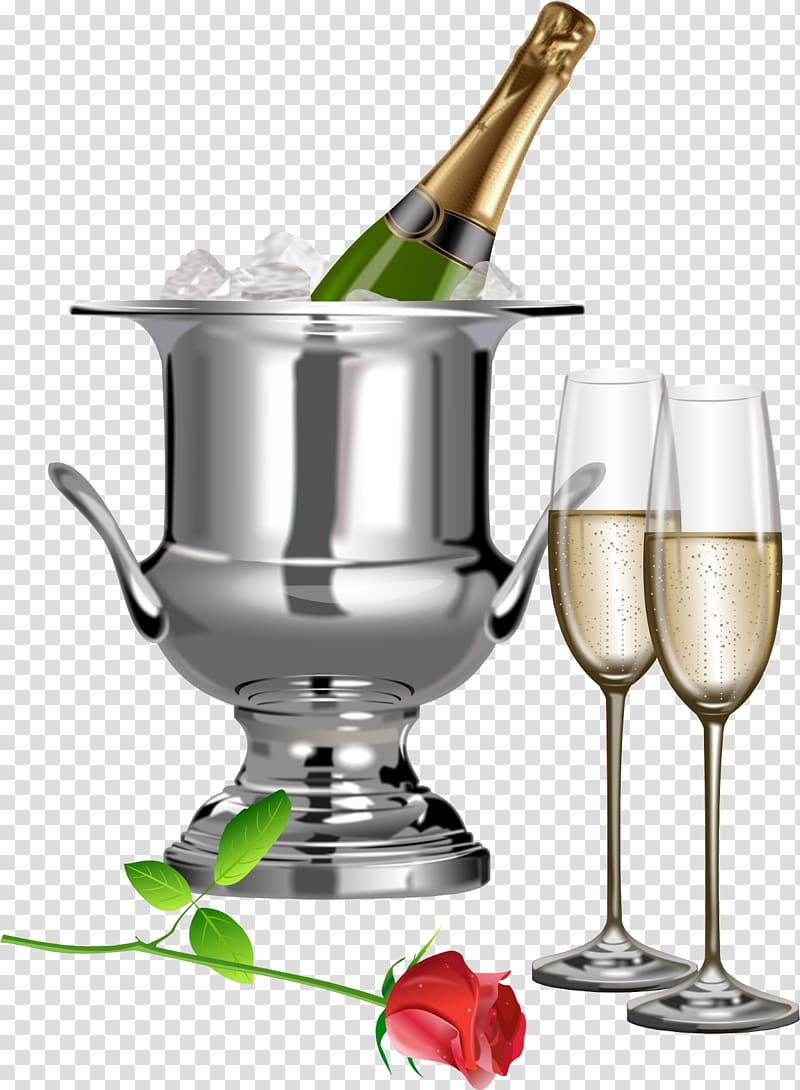 Champagne clipart wedding drink. Stainless steel bucket toast