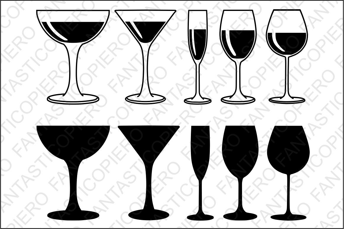 Red white glasses svg. Champaign clipart wine glass
