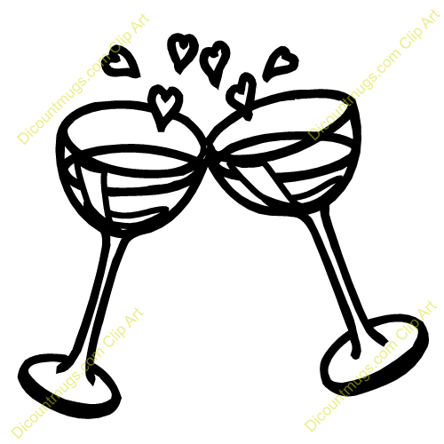 Wedding glasses craft ideas. Engagement clipart champagne glass