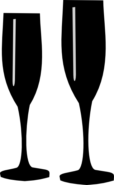 Champagne pencil and in. Champaign clipart wine glass