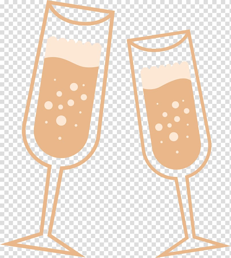 Two cartoon . Champagne clipart wine glass