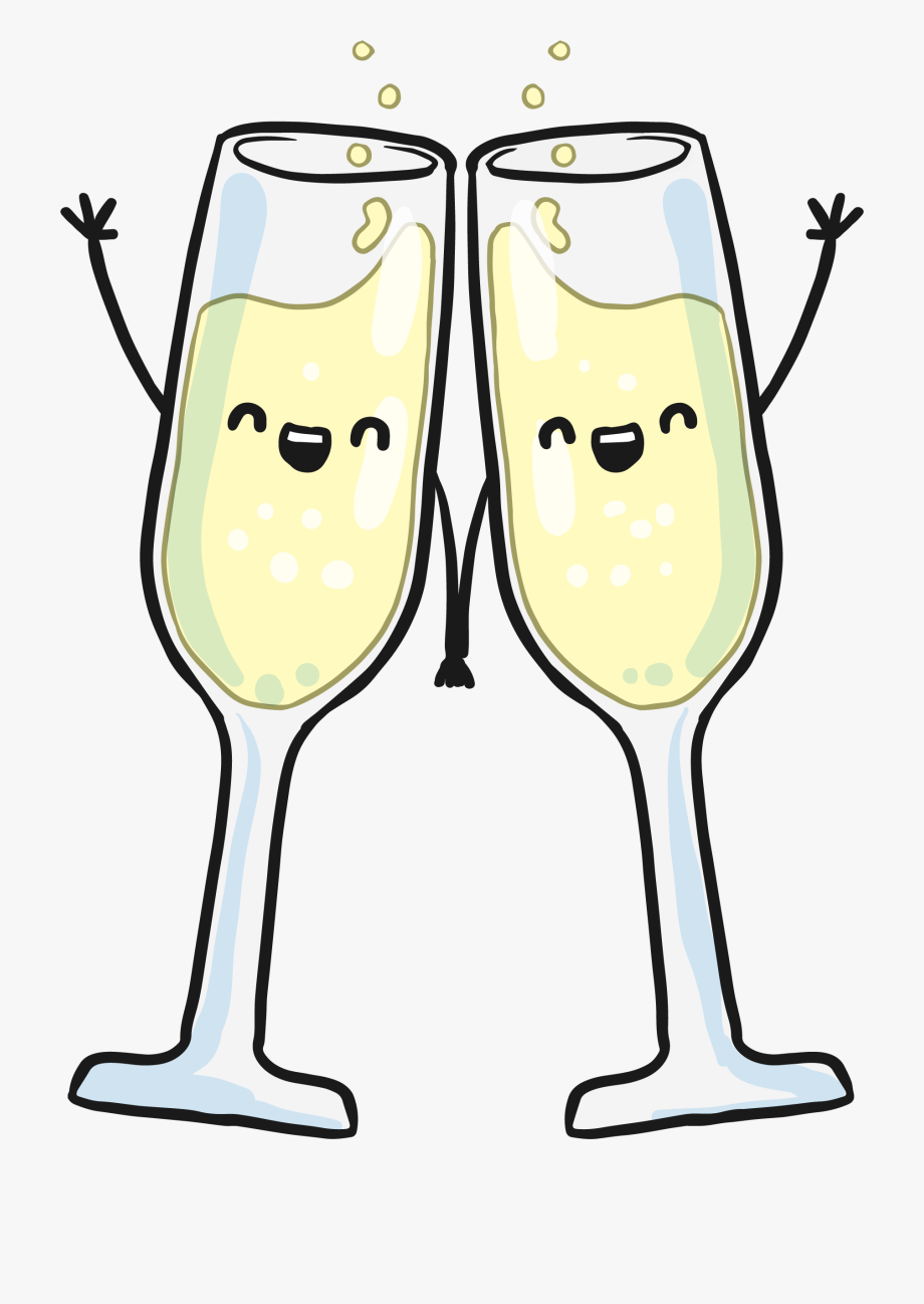 Hand in champagne glasses. Champaign clipart wine glass