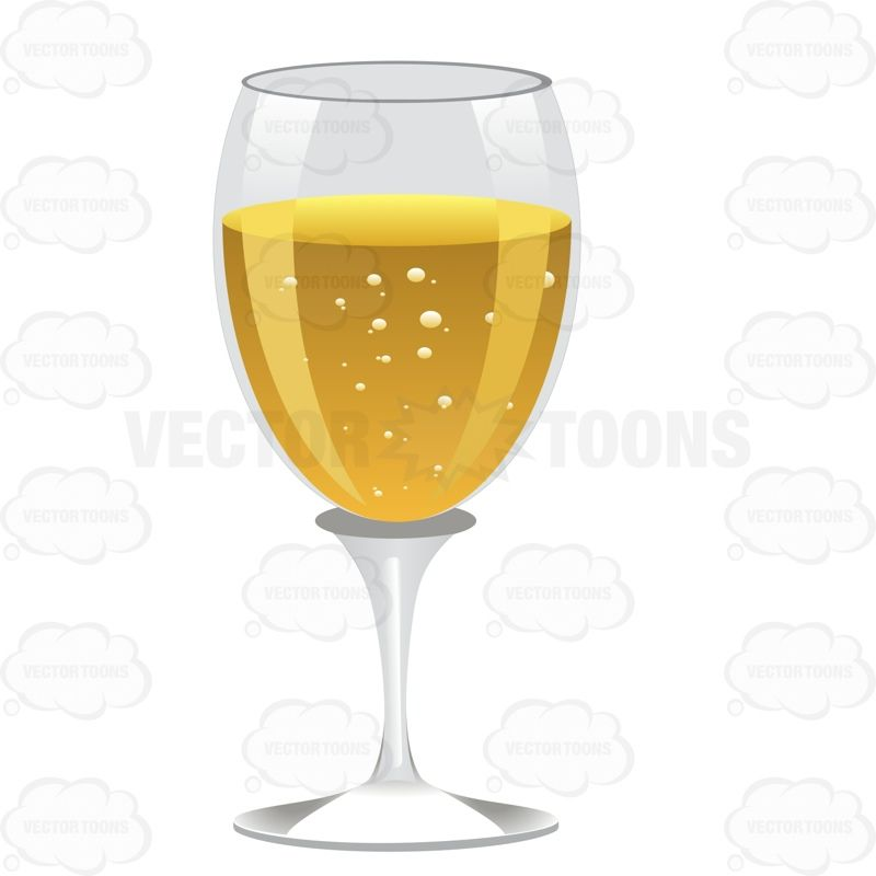 Glass with a white. Champaign clipart wine spirit
