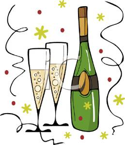 Picture a bottle and. Champaign clipart