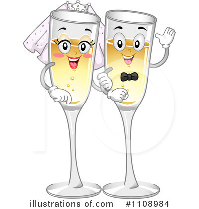 Champaign clipart. Champagne illustration by bnp