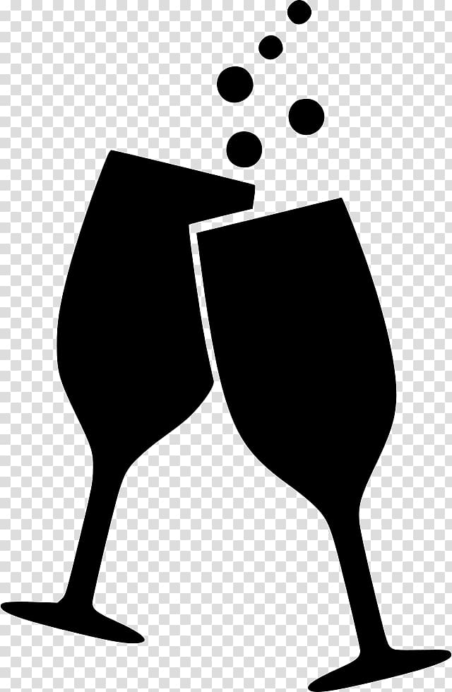 Two champagne flutes illustration. Champaign clipart alcoholic drink