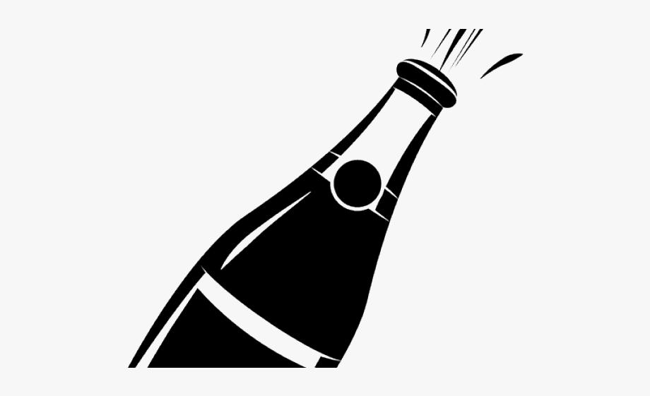 Champagne bottle clip art. Champaign clipart black and white