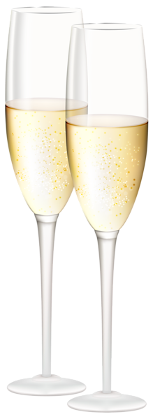 Champaign clipart champagne afternoon tea. Glasses transparent png clip
