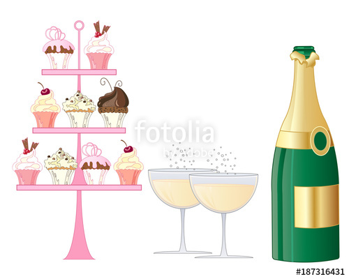 Champaign clipart champagne afternoon tea. Sparkling stock image and