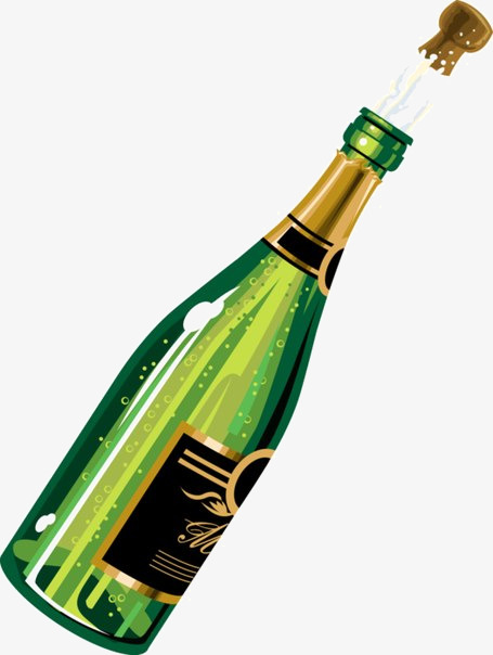 Png vectors psd and. Champaign clipart champagne bottle