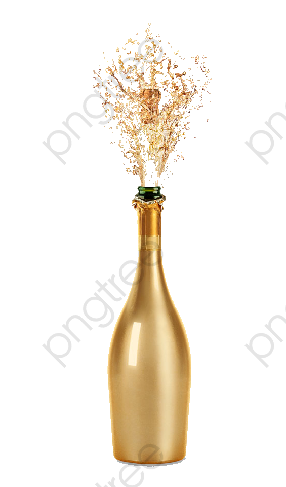 Gold circle png vector. Champaign clipart champagne bottle