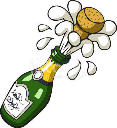 Champaign clipart champagne bottle. Popping stock vector freeimages