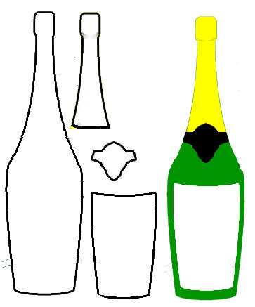 New years day. Champaign clipart champagne bottle