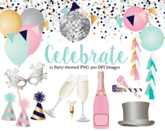 Champaign clipart champagne celebration. Bottle glasses top hat