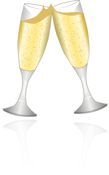 Glasses clip art at. Champaign clipart champagne clink