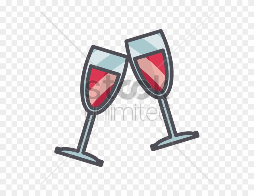 Champaign clipart champagne clink. Cartoon wine glasses sparkling