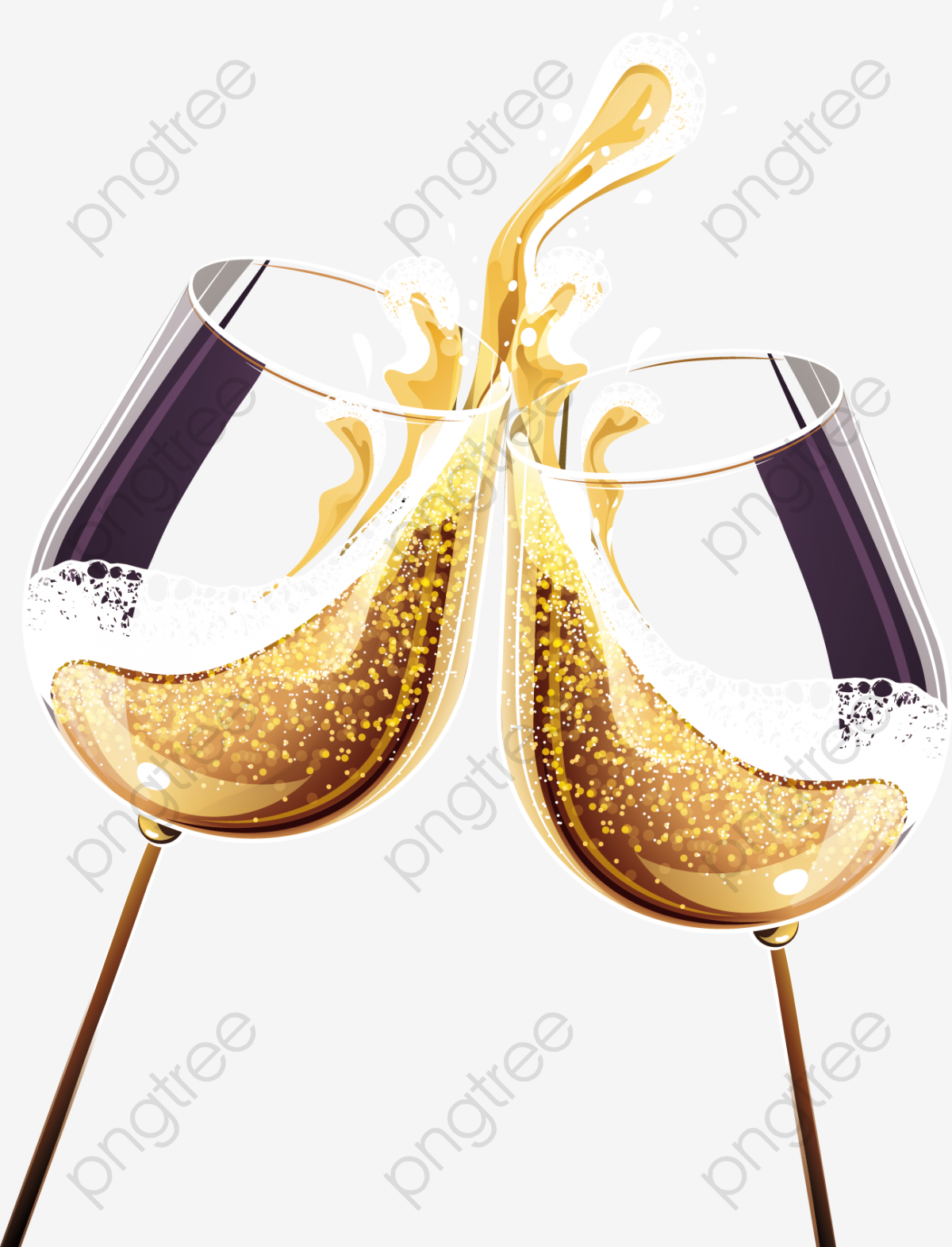 Gold circle png vector. Champaign clipart champagne cocktail