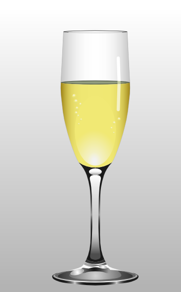 Glass Of Champagne Clip Art at Clker
