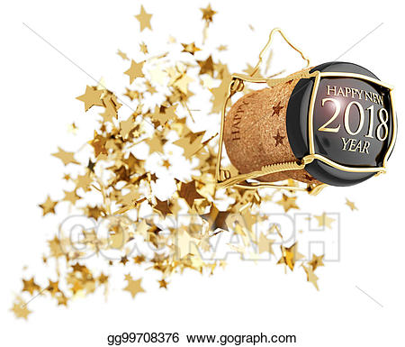 Stock illustration bottle popping. Champaign clipart champagne cork