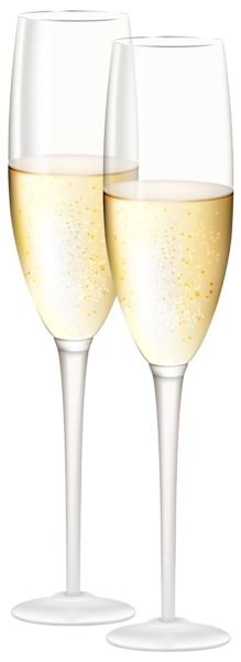 Green gold new year. Champaign clipart champagne cup