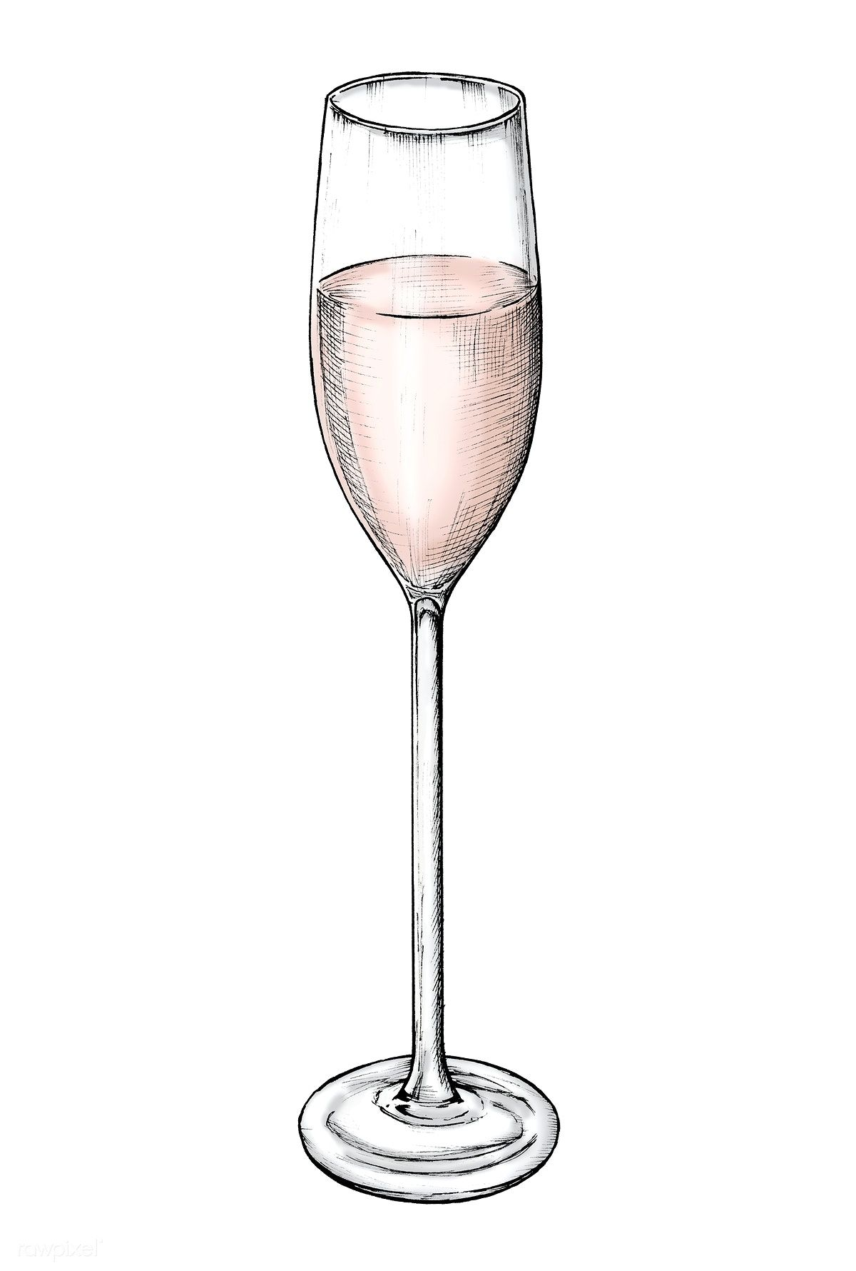 Champaign clipart champagne cup. Hand drawn glass free