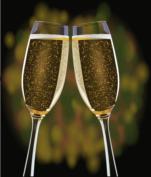 Glasses clip art at. Champaign clipart champagne cup