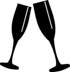 Anniversary clipart champagne flute. Decorated wine glasses in