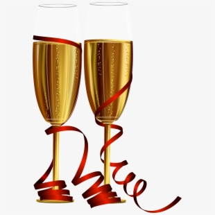 Glasses new years eve. Champaign clipart champagne flute