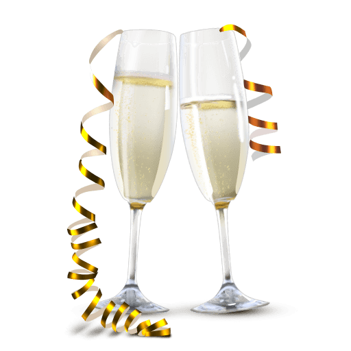 Champaign clipart champagne glass. Transparent background imagens