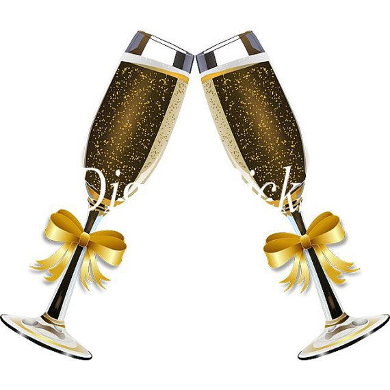 x filled glasses. Champaign clipart champagne party