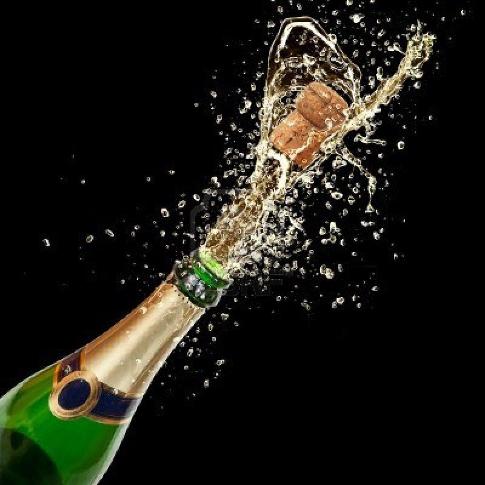 Bottle popping ptc mural. Champaign clipart champagne pop