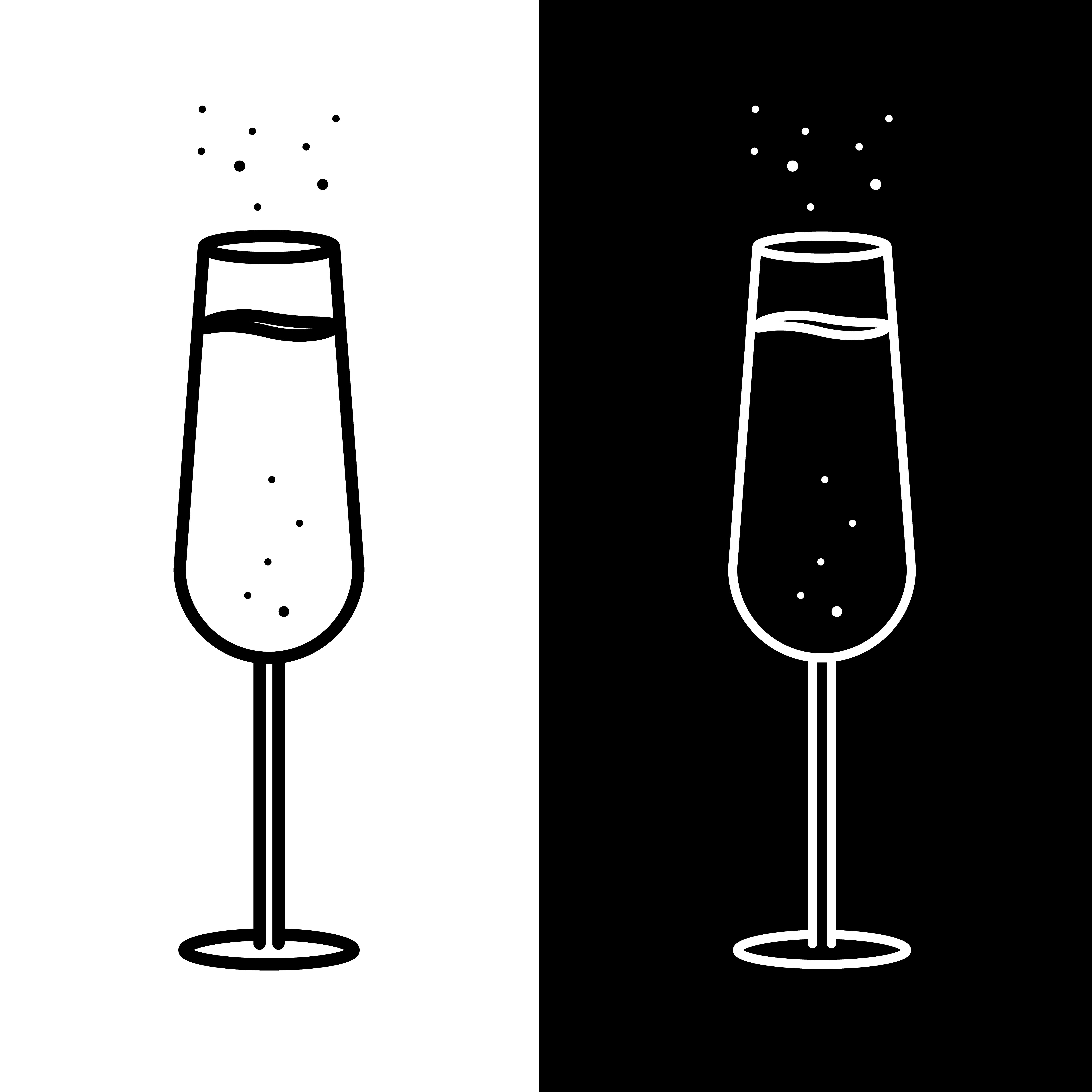 Champaign clipart champagne pop. Objects creative market