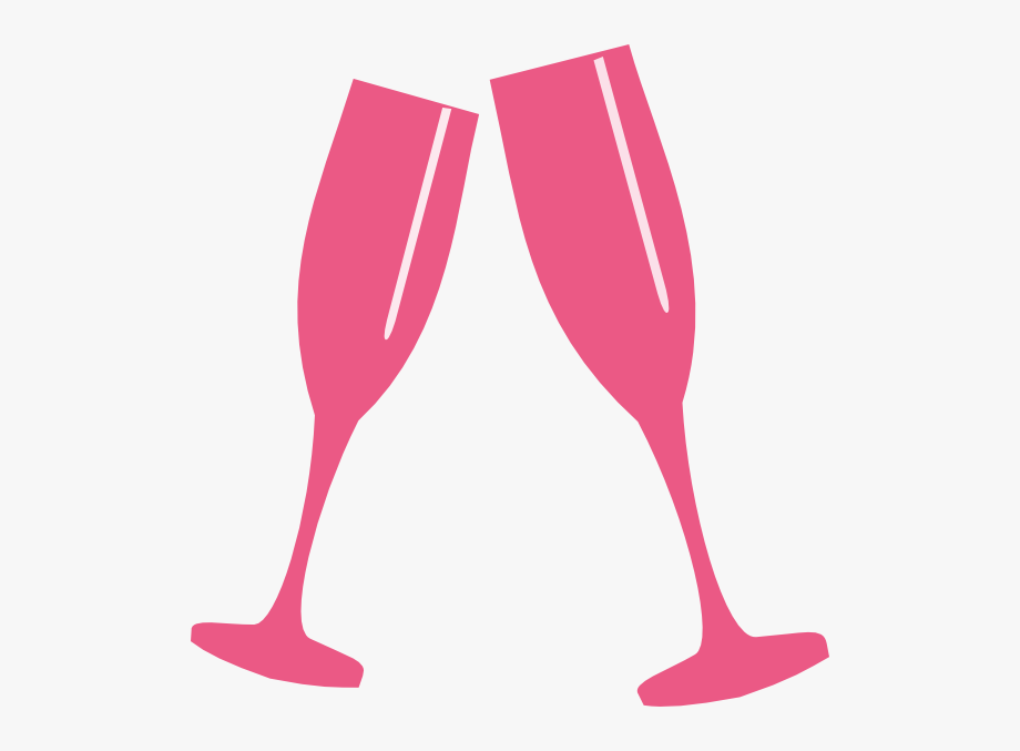 Glass lite pink clip. Champaign clipart champagne toast