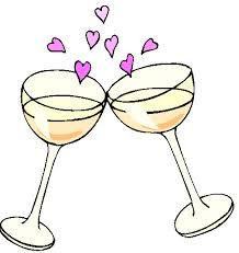 Champagnergl ser cheers zeichnung. Champaign clipart cheer