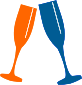 Champagne Glasses Clip Art at Clker
