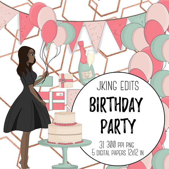 Champaign clipart clip art. Birthday celebration fashion girl
