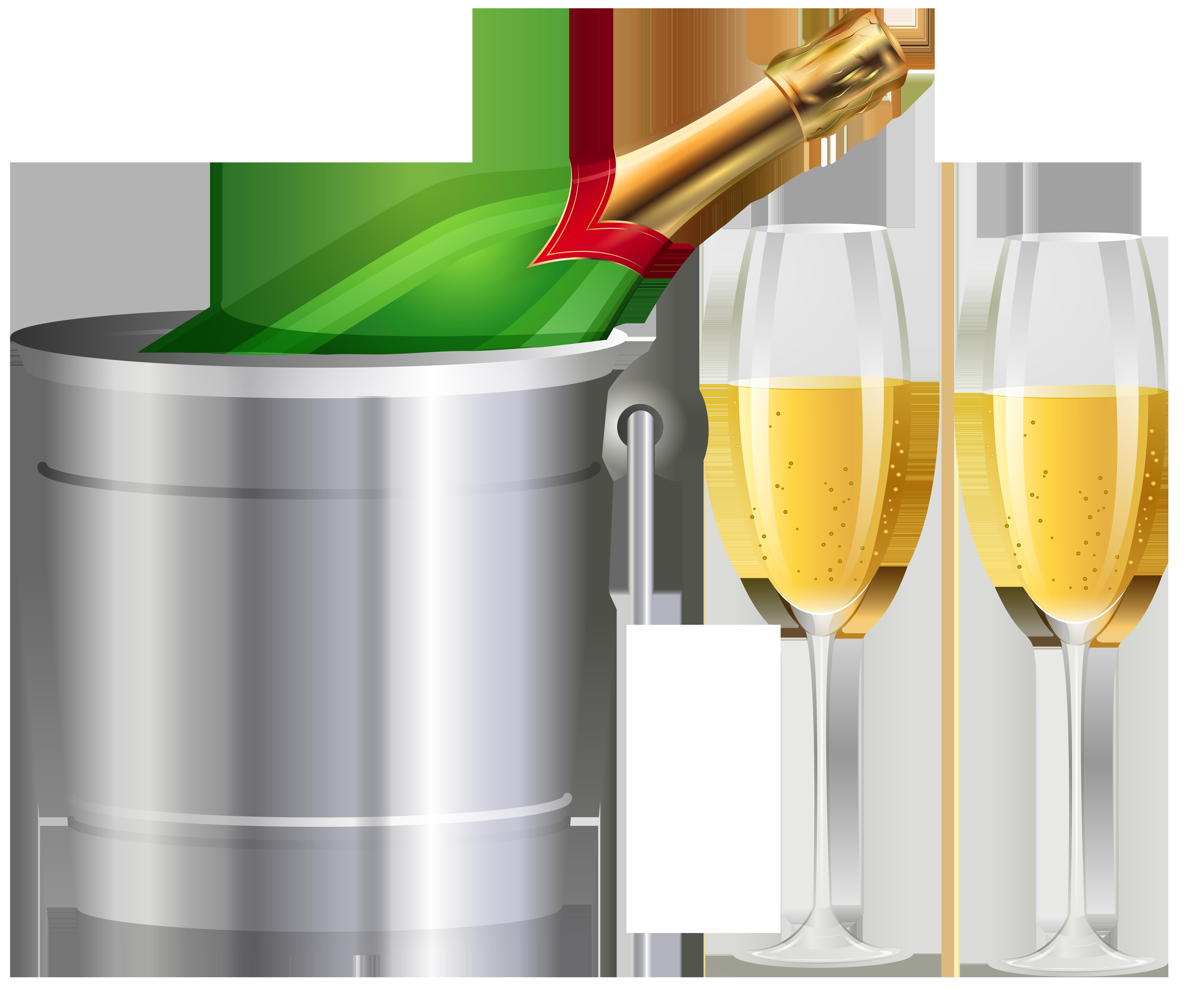 Champagne and glasses transparent. Champaign clipart liquor bottle