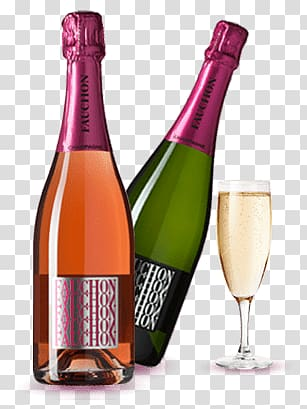 Two fauchon bottles champagne. Champaign clipart liquor bottle