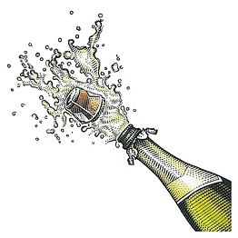 Champaign clipart popped. Wine popping a champagne