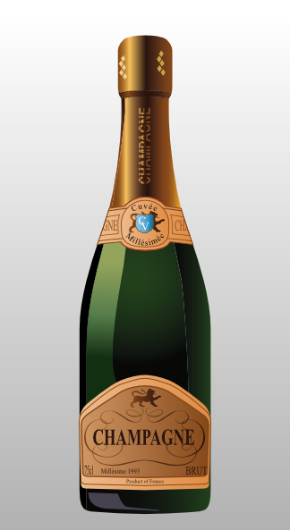 Bottle of clip art. Champaign clipart sparkling champagne