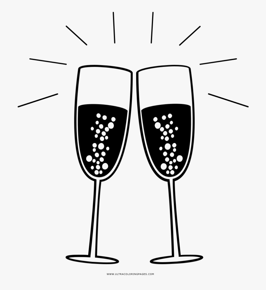 Macaroons drawing glass . Champaign clipart sparkling champagne