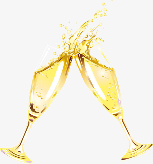 Cheers clink good wine. Champaign clipart splash