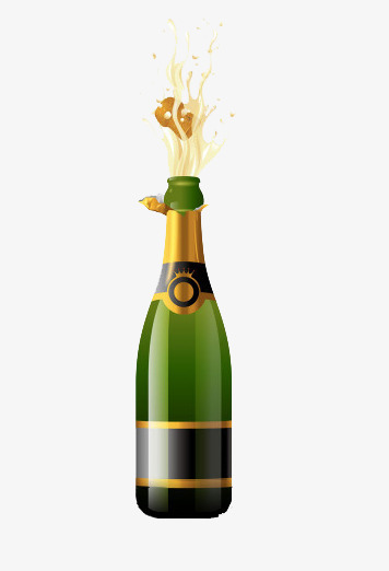Open champagne turn on. Champaign clipart splash